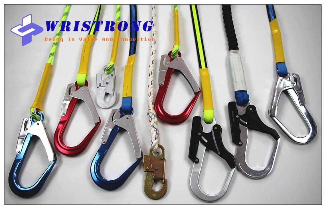 Wristrong-fall-arrest-lanyard-Safety-lanyards-hooks