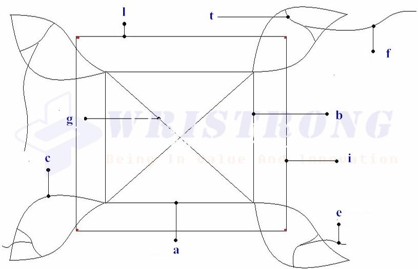 wristrong-clover-leaf-sling-drawing