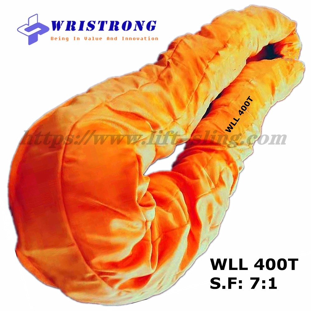 WLL 400 Ton Heavy Duty Endless Polyester Round Slings
